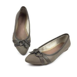 Sperry Linden Taupe Point Toe Ballet Flats